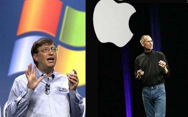 Bill Gates i Steve Jobs (Fot. IctBusiness.it)
