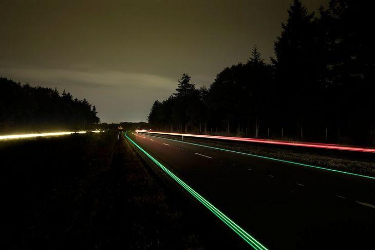 Świecąca droga w Holandii