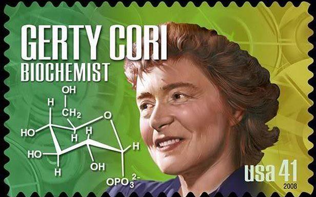 Amerykański znaczek z Gerty Cori