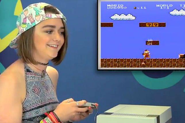 Maisie Williams gra w Mario