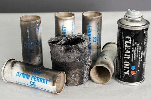 Zużyte granaty znalezione w zgliszczach (źródło: Bristol Herald Courier)