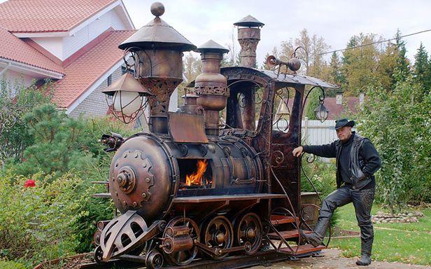 Steampunkowy grill