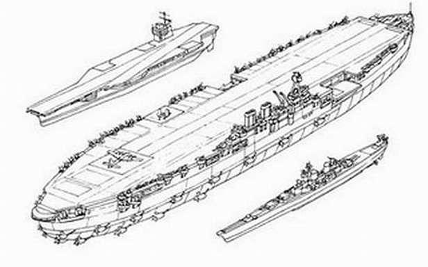 Habakkuk - porównanie wielkosci okrętów (Fot. Moddb.com)
