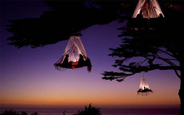 Wiszące namioty (Fot LikeCool.com)