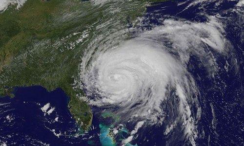 Huragan Irene na żywo (fot.: NASA)