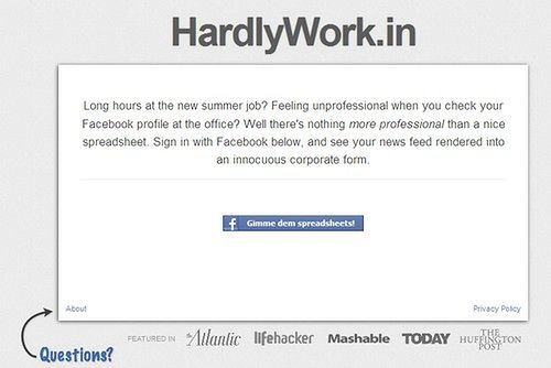 HardlyWork.in - Facebook w... Excelu