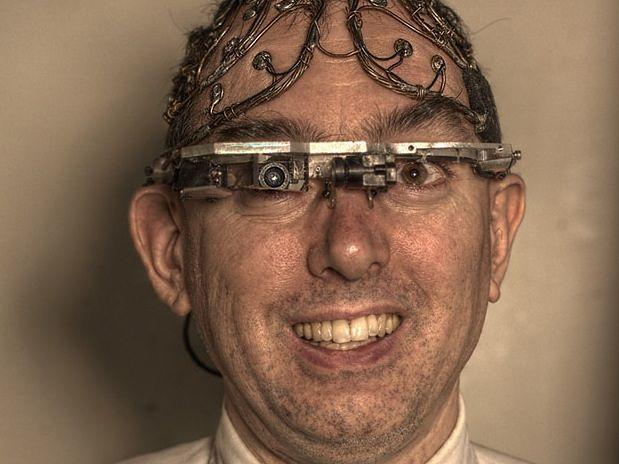 Steve Mann i jego wynalazki (Fot. wikipedia.org)