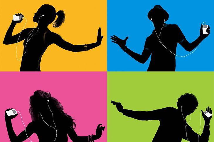 Kadry z reklam iPoda