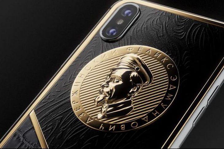 Luksusowa wersja iPhone'a X z podobizną Feliksa Dzierżyńskiego na obudowie