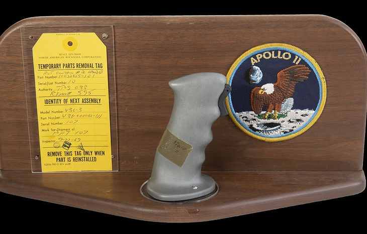 Drążek sterowniczy Neila Armstronga z misji Apollo 11
