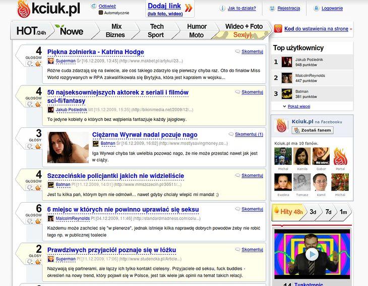 Sex(y) - w przyszłości najpopularniejsza kategoria na kciuk.pl?