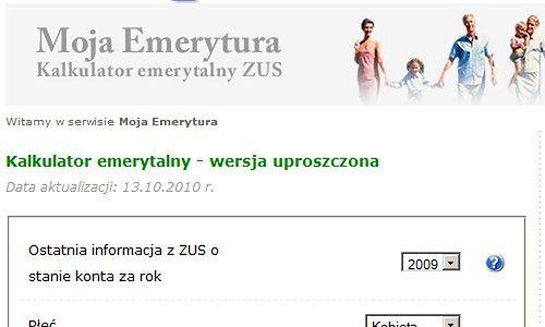 Kalkulatory emerytalne - ile kasy dostaniesz od ZUS-u?