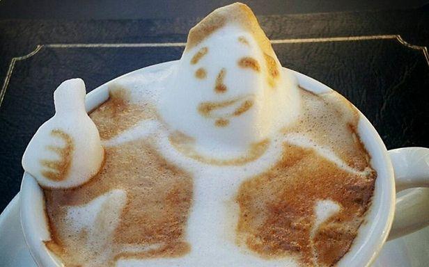 Kawa z pianką 3D