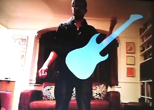 Kinect Air Guitar Hack