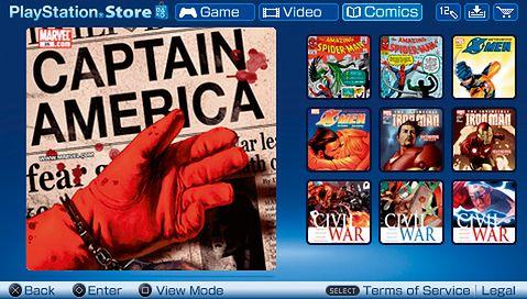 Komiksy w PSP