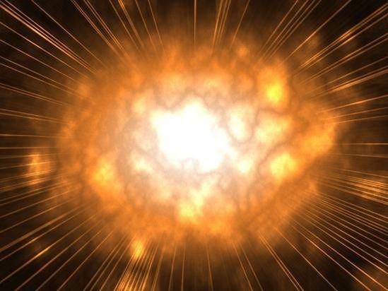 Kosmiczna eksplozja - wizja artystyczna