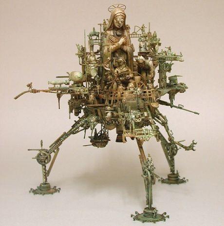 Reiligia, polityka i technologia – Wszystko połączone w apokaliptycznych rzeźbach Krisa Kuksi