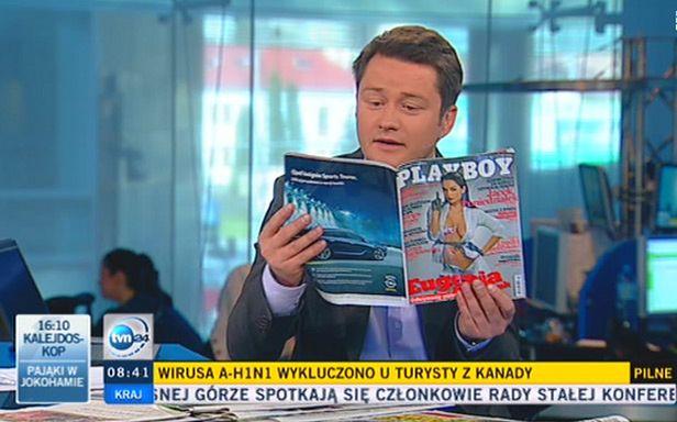 Jarosław Kuźniar prowadzi program (Fot. TVN24)