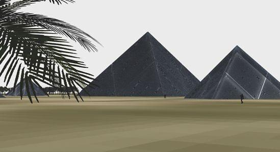Wizualizacja projektu piramid