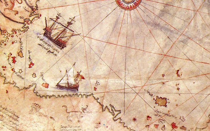 Fragment mapy Piriego Reisa