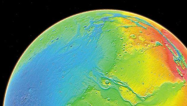 Mapa hipsometryczna Marsa (NASA)