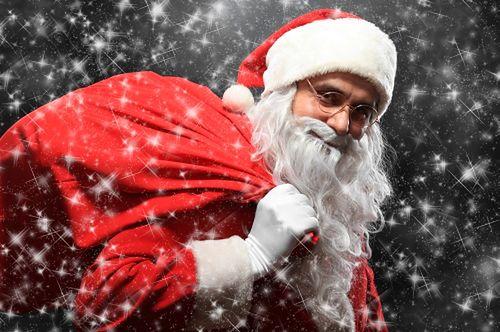 Santa Claus with a sac
