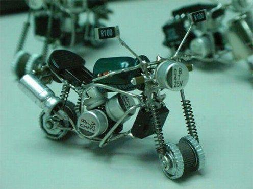 motocykl z odzysku