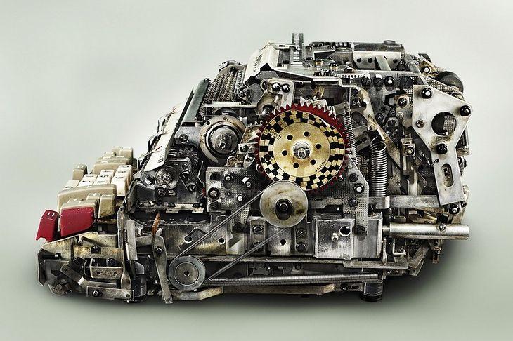 Wnętrze mechanicznego sumatora