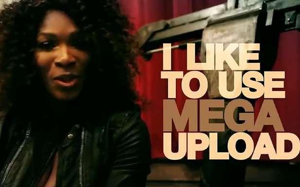 Fragment klipu reklamowego Megaupload