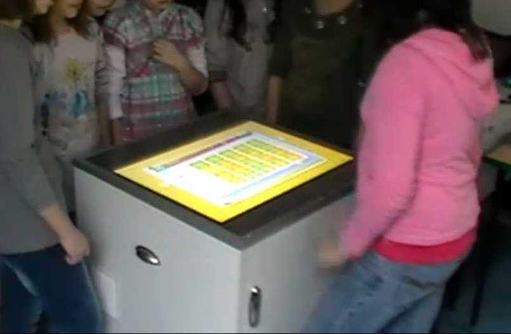 Ekran wielodotykowy w szkole