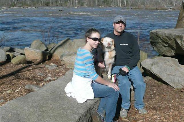 Ojciec, córka i pies