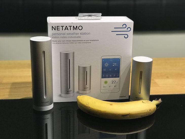 Netatmo Personal Weather Station. Banan dla skali