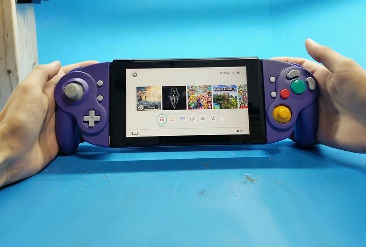 Domowy projekt kontrolerów do Nintego Switch na modłę GameCube