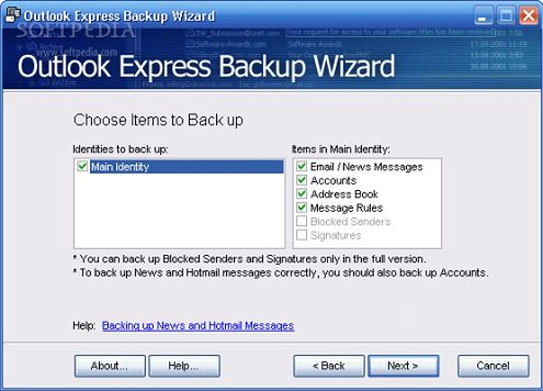 outlook-express-backup-wizard