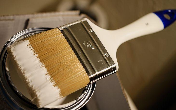 Biała farba - zdjęcie ilustracyjne