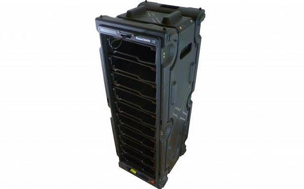 PowerCRANE pozwala na hurtowe ładowanie tabletów (Fot. Gizmag.com)