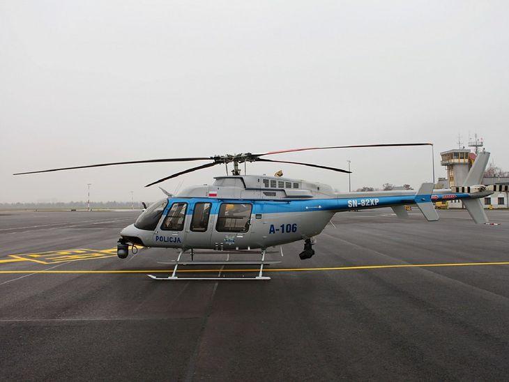 Wielkopolska policja odebrała nowoczesny śmigłowiec Bell 407GXi