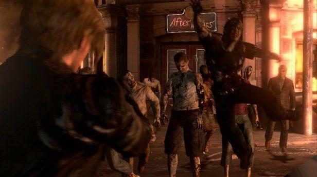 Leon i jego fryzura kontra hordy zombie (Fot. GameFaqs)