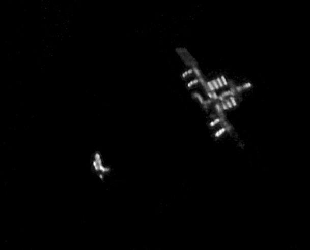 Prom Discovery i Międzynarodowa Stacja Kosmiczna