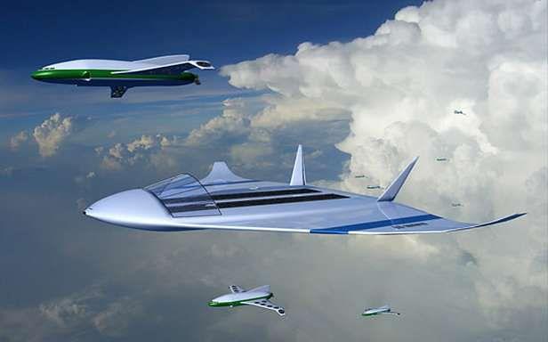 Wizualizacja podniebnego lotniska (Fot. Dvice.com)