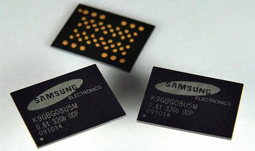 Samsung-0.6mm-thick-8-chip-NAND-Memory-Package