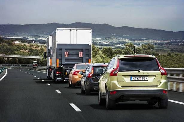 SARTRE na drodze (Fot. Gizmag.com)