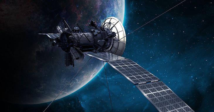 Zdjęcie ilustracyjne. Satelita w kosmosie