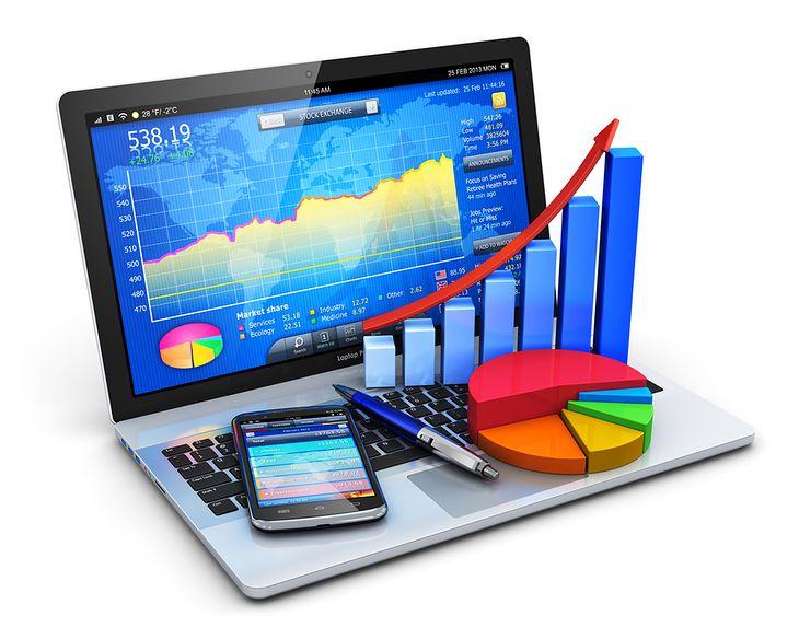 Zdjęcie Mobile office, stock exchange market trading, accounting, financial development and banking business concept... pochodzi z serwisu Shutterstock