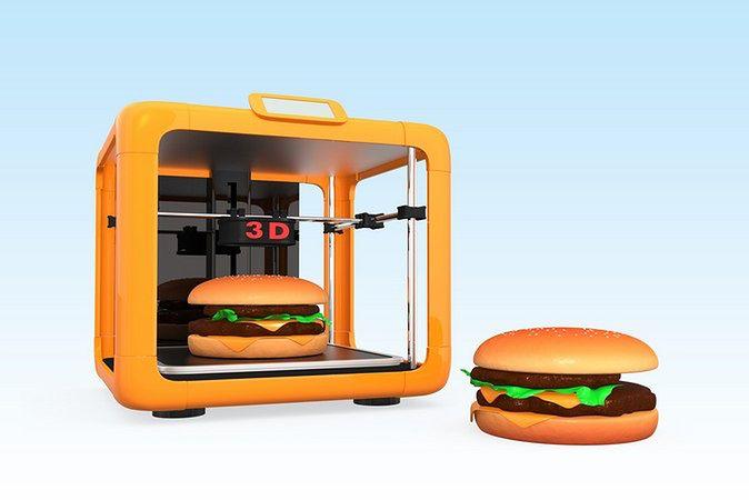 Zdjęcie wydrukowanych hamburgerów pochodzi z serwisu shutterstock.com