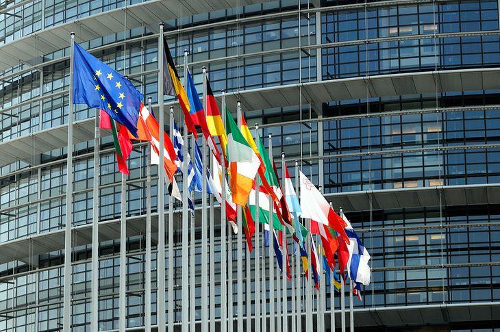 Zdjęcie flag państw unijnych pochodzi z serwisu Shutterstock