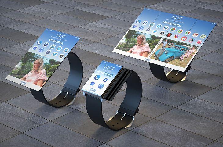 Smartwatch z rozkładanym ekranem. Oto najnowszy patent firmy IBM.