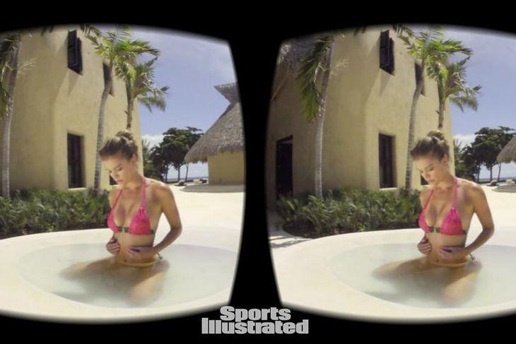 Sports Illustrated Swimsuit przedstawia modelki w bikini w wirtualnej rzeczywistości