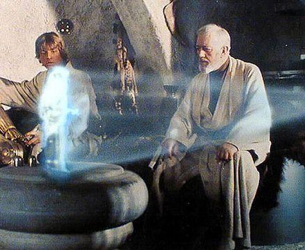 Hologram z Gwiezdnych Wojen