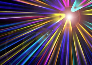 tęczowe światło